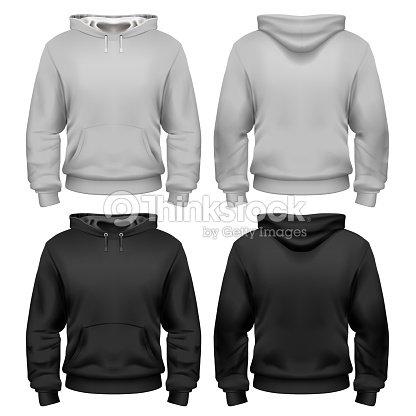 Schwarz Weiß Sweatshirt Vorlage Vektorgrafik | Thinkstock