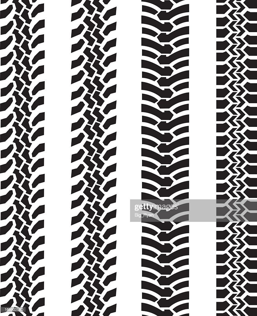 Tire Size Comparison >> Black And White Tire Tread Comparison Vector Art | Getty ...