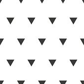 Black and white triangle pattern design. Seamless background