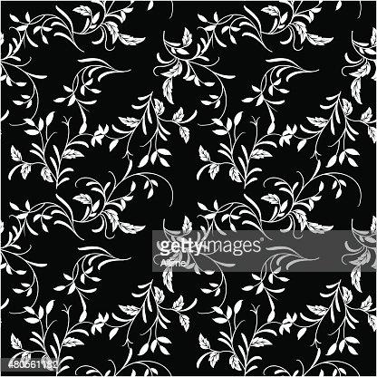 Black and white wallpaper pattern : Vector Art