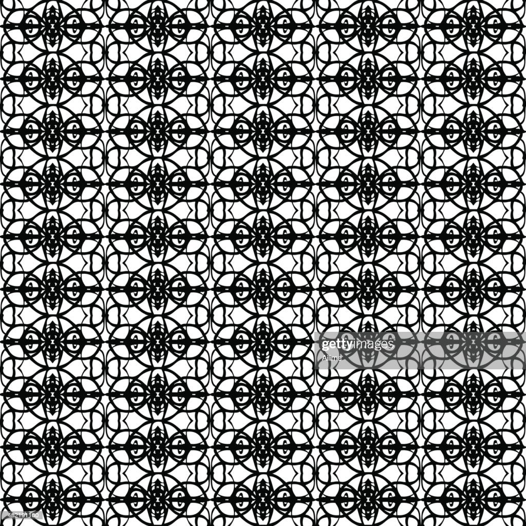 Black And White Wallpaper Pattern Vector Art Getty Images