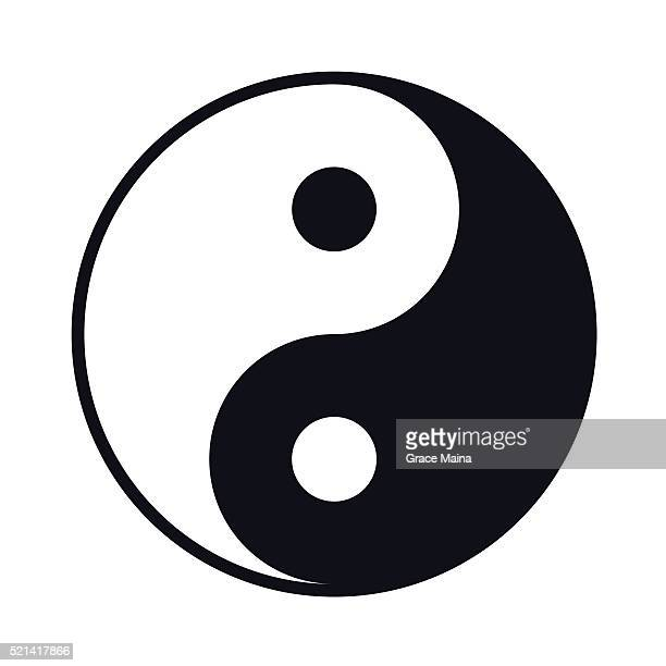Black And White Yin Yang lIllustration - VECTOR