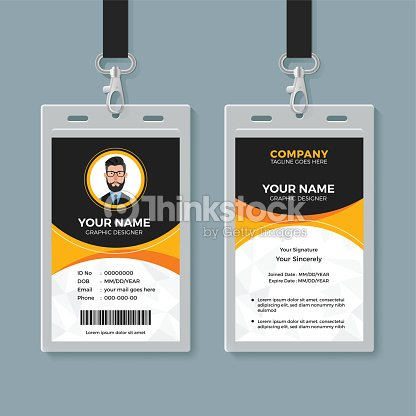 And Yellow Id Office Vector Black Thinkstock Card - Stock Template