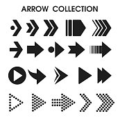 Black arrow icons that look simple and modern. vector illustration.