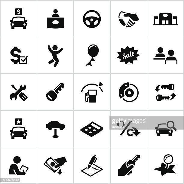 Black Automotive Sales Icons