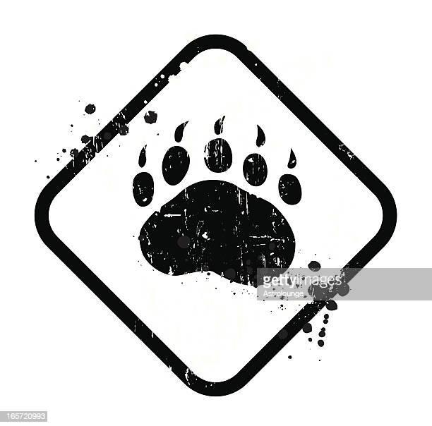 Black bear sign on white background