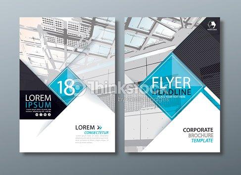 black blue annual report brochure flyer design leaflet cover presentation book cover template