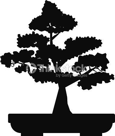 Black Bonsai Plant Vector Vector Art | Thinkstock