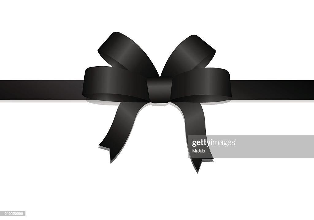 Black bow and ribbon : Arte vetorial