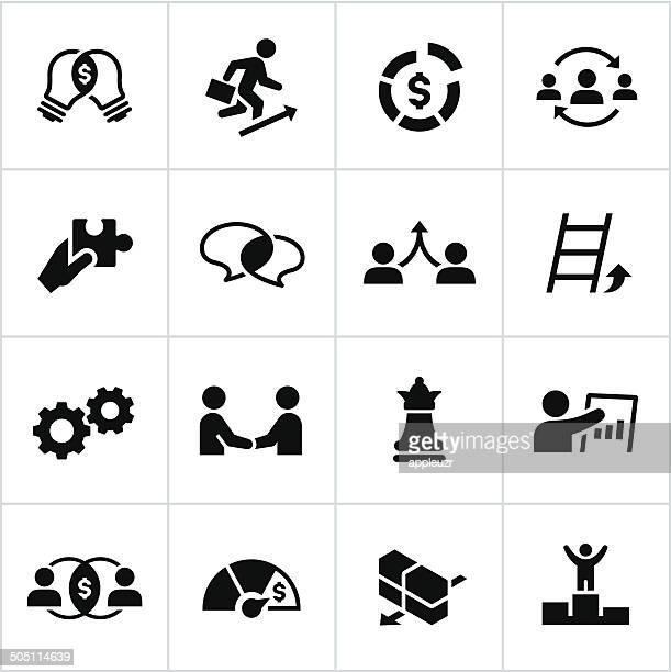 Black Business-Strategie-Symbole