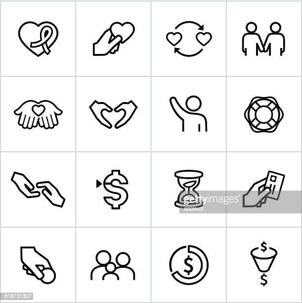 Iconos negros de caridad de estilo