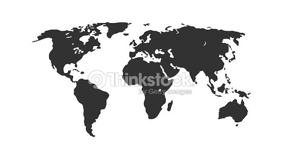 Black color world map isolated on white background abstract flat black color world map isolated on white background abstract flat template for web design gumiabroncs Choice Image