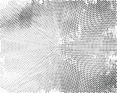 Black concentric dotted background. Vector monochrome background