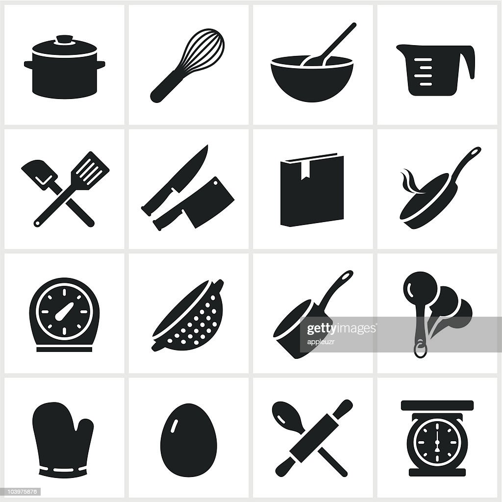Single Color Cooking Icons Vector Art Getty Images