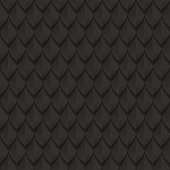 Black dragon scales seamless background texture.  Dragon skin seamless texture. Vector illustration