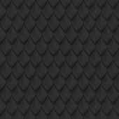 Black dragon scales seamless background texture.  Dragon skin seamless texture. Vector illustration