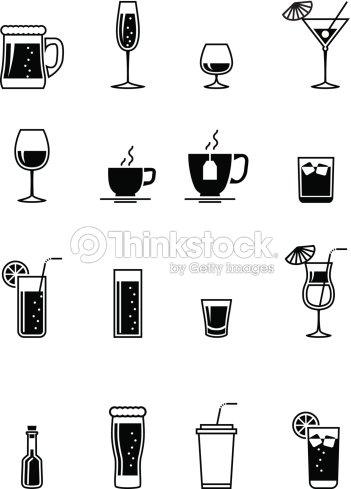 Schwarz Getränkesymbol Vektorgrafik | Thinkstock
