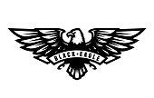 Black eagle logo, symbol, emblem Vector illustration