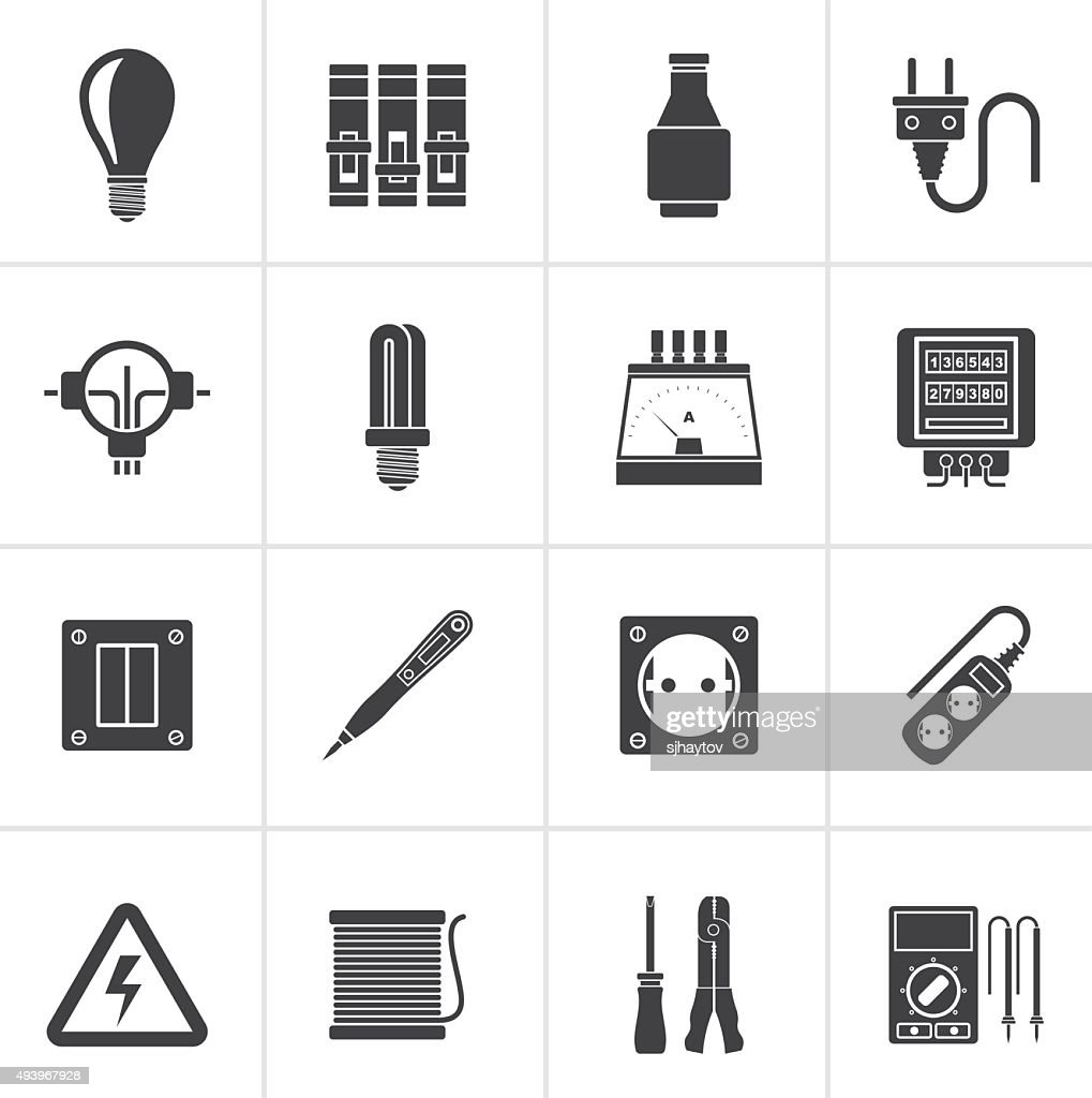 black electrical devices and equipment icons vector id493967928?s\\\\\\\\\\\\\\\=170667a\\\\\\\\\\\\\\\&w\\\\\\\\\\\\\\\=1007 2009 saturn outlook fuse box schematic diagrams