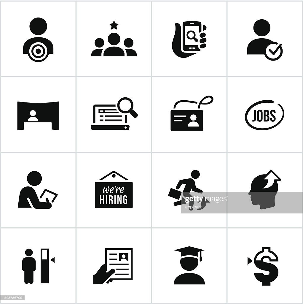 Black Employment Icons Vector Art | Getty Images