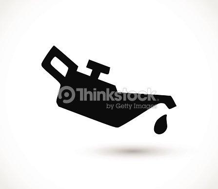 Black Engine Oil Icon On White Background Vector Illustration Vector