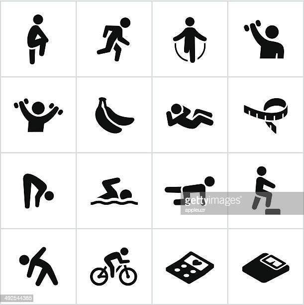 Black Exercise Icons