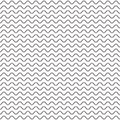 Black fine wavy line pattern black and white. Zigzag striped background for wrap paper or web tiles.