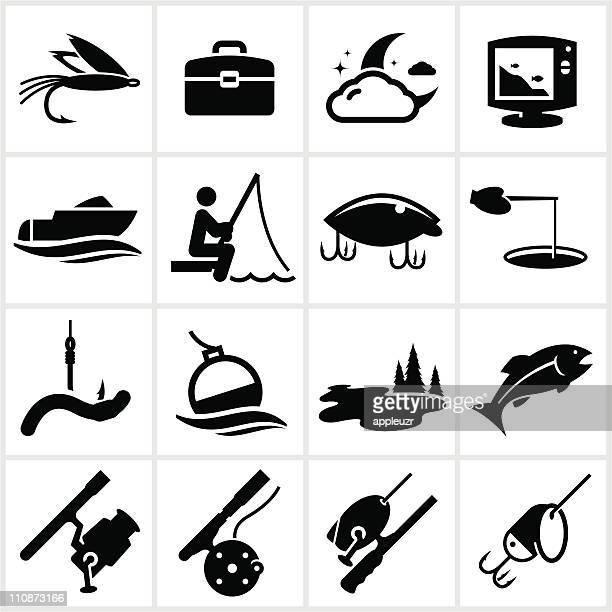 Black Fishing Icons