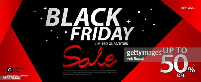 Black Friday Sale Banner Ads Header Banner Gift Voucher Discount