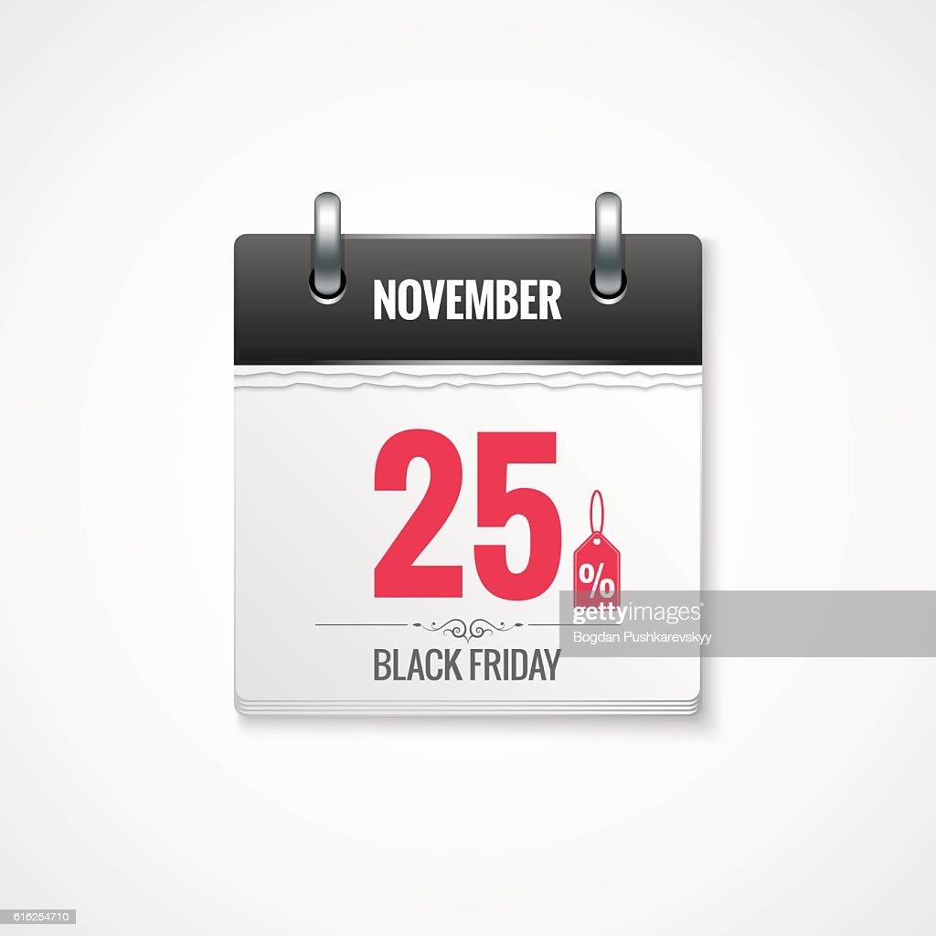 Black Friday sale calendar background : Arte vectorial
