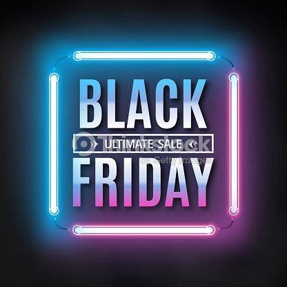 black friday sale design template black friday light frame ベクトル