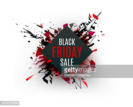 Black Friday sale inscription design template. Rectangular banne : Arte vectorial