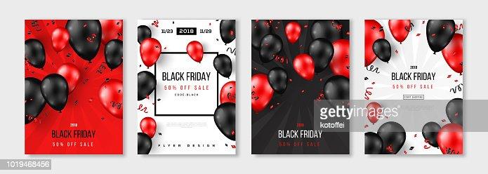 Venta de viernes negro serie de pósteres : arte vectorial