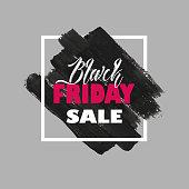 Vector illustration Black Friday Sale background, brochure, banners
