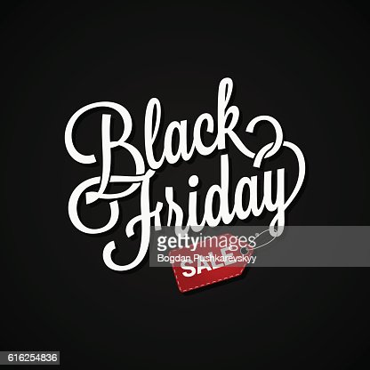 Black Friday sign with sale tag on dark background : Arte vetorial