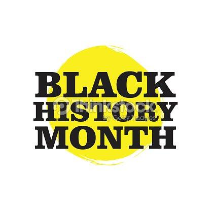 Black History Month Vector Template Design Art