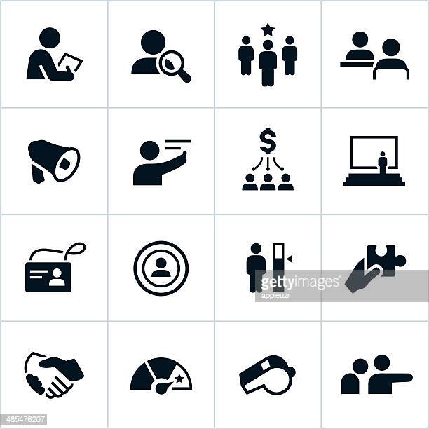 Black Human Resources Icons