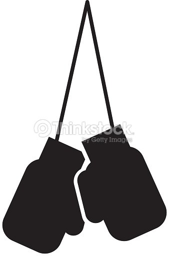 Black icon hanging boxing gloves