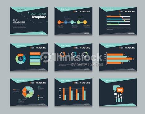 Black infographic powerpoint template design backgrounds business black infographic powerpoint template design backgrounds business presentation template set vector art toneelgroepblik Gallery