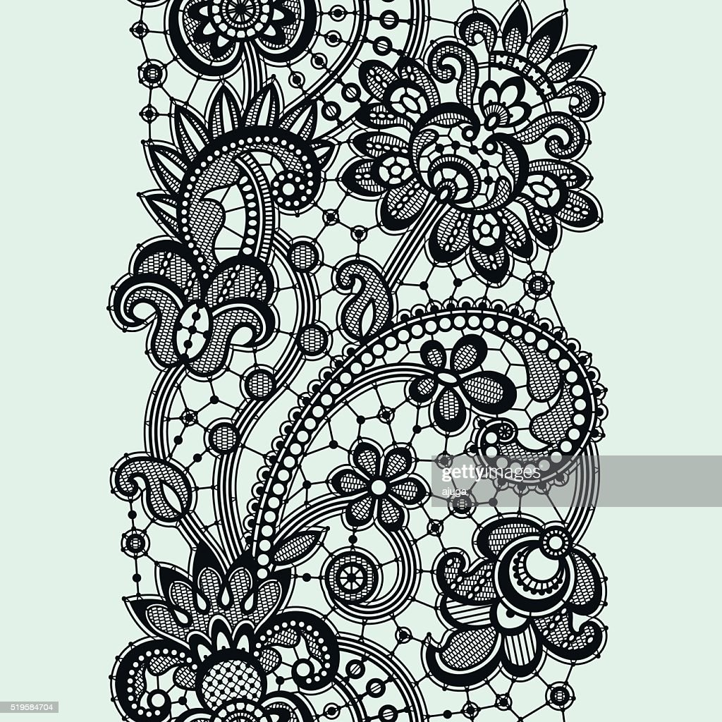black lace vector art thinkstock rh thinkstockphotos com lace vectors lace vector free
