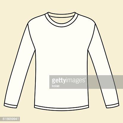 Black longsleeved tshirt template vector art getty images for Long sleeve t shirt template illustrator
