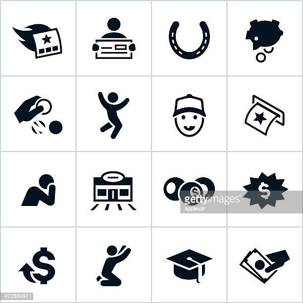Black Lottery Icons