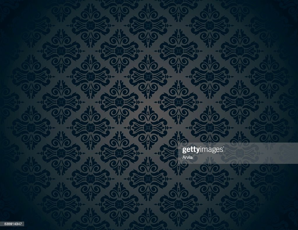 Negro patrón de fondo vintage de lujo : Arte vectorial