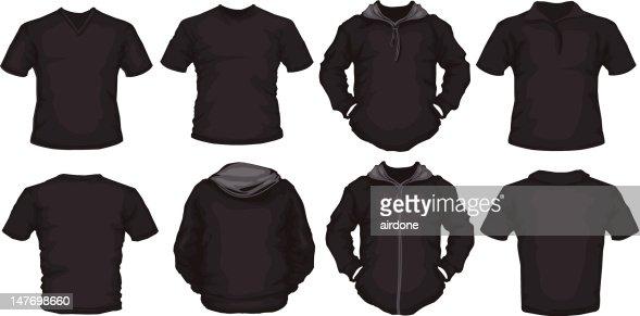 Black Male Shirts Template Vector Art   Thinkstock