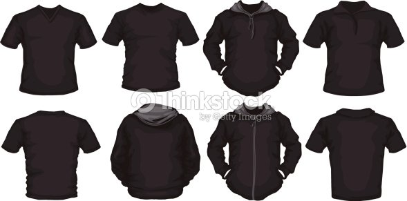 Black Male Shirts Template Vector Art Thinkstock