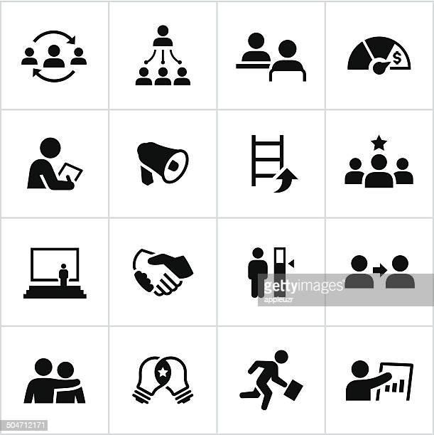 Black Management Icons