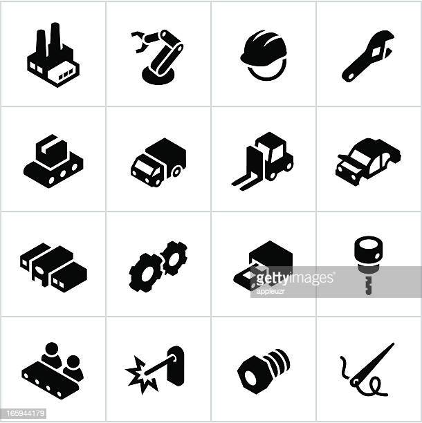 Black Manufacturing Icons