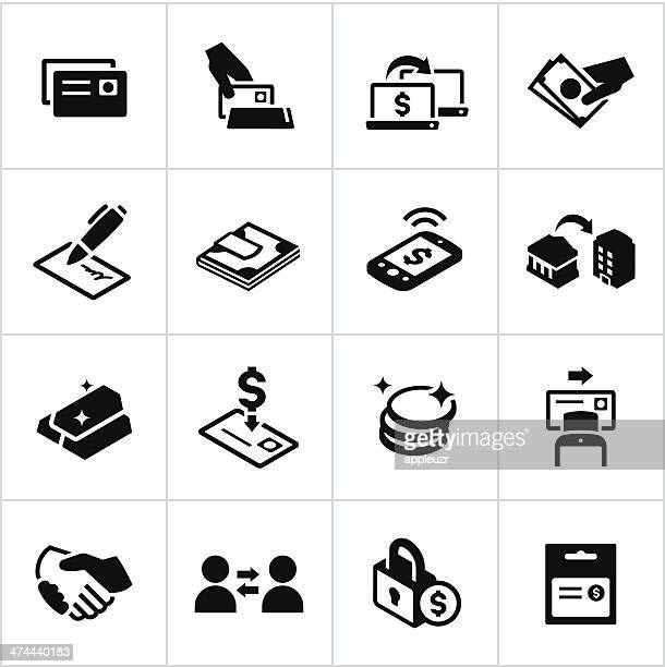 Black Methods of Payment Icons