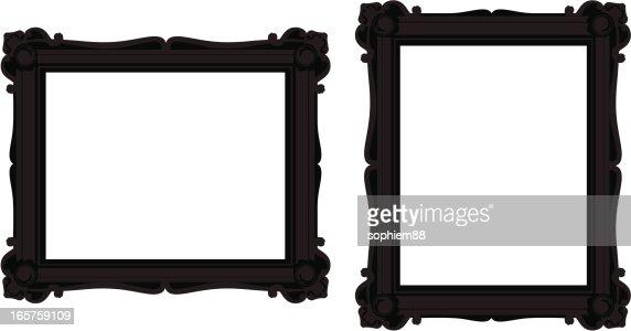 black ornate frames vector art