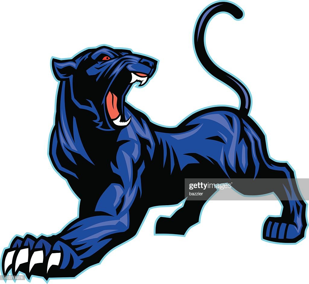 black panther mascot vector art thinkstock rh thinkstockphotos com